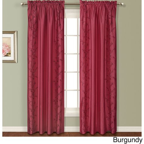 Pinterest – India With Ofloral Embroidered Faux Silk Window Curtain Panels (View 18 of 50)