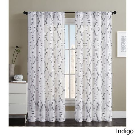 Pinterest Throughout Essentials Almaden Fretwork Printed Grommet Top Curtain Panel Pairs (#31 of 38)