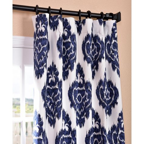 Pinterest With Ikat Blue Printed Cotton Curtain Panels (#41 of 50)