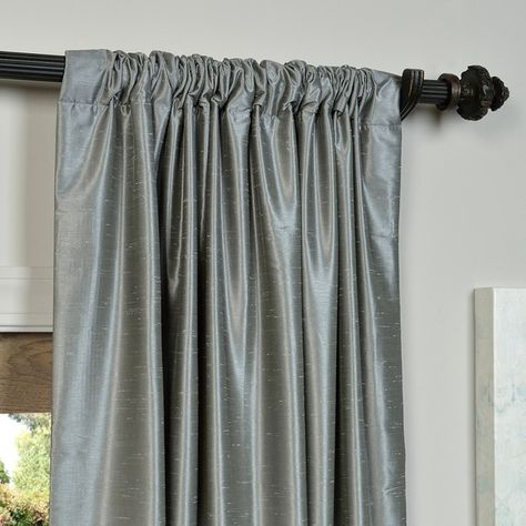 Pinterest With Regard To Storm Grey Vintage Faux Textured Dupioni Single Silk Curtain Panels (View 12 of 50)