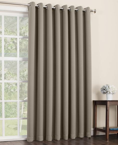 Popular Photo of Nantahala Rod Pocket Room Darkening Patio Door Single Curtain Panels