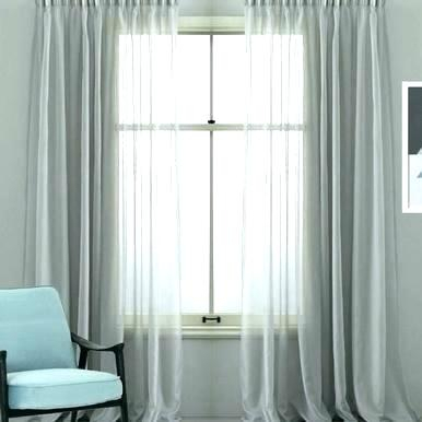 Pleated Sheer Curtains Pinch Pleat Curtain Cotton Look Voile Pertaining To Solid Cotton Pleated Curtains (#34 of 50)