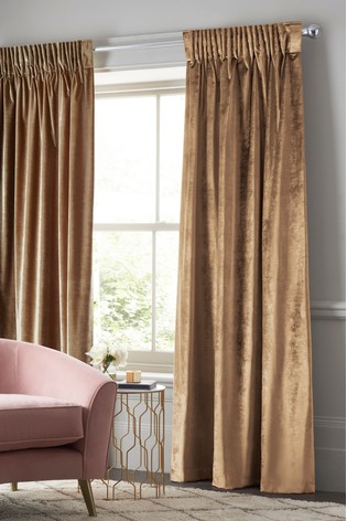 Plush Velvet Pencil Pleat Lined Heavyweight Curtains Within Heritage Plush Velvet Curtains (View 36 of 50)