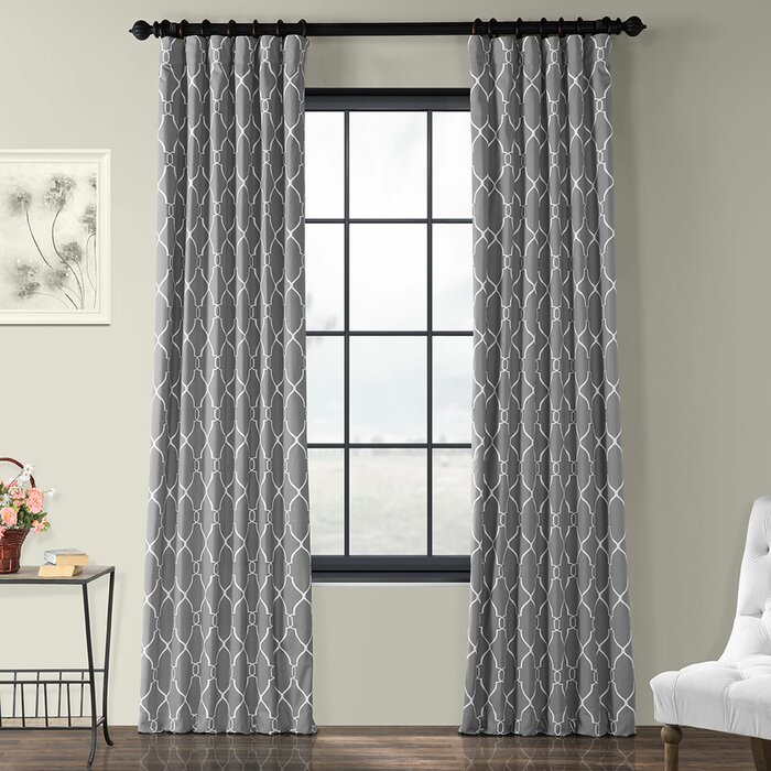 Pocono Printed Cotton Rod Pocket Single Curtain Panel With Regard To Edward Moroccan Pattern Room Darkening Curtain Panel Pairs (View 32 of 50)