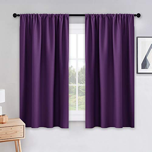 Pony Dance Bedroom Drapes Set – Blackout Curtains All Season Solid Rod  Pocket Top Curtain Panels/thermal Insulated Draperies Window Treatments, W  42 Throughout Thermal Rod Pocket Blackout Curtain Panel Pairs (#36 of 50)