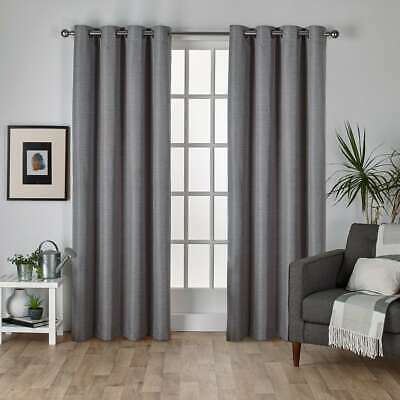 Porch & Den Dorchester Faux Silk Grommet Curtain Panel Regarding Sugar Creek Grommet Top Loha Linen Window Curtain Panel Pairs (View 32 of 50)