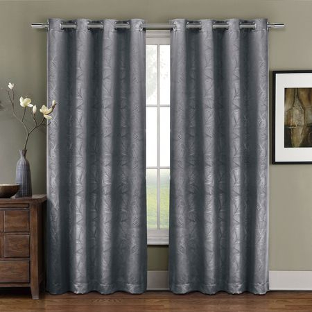 Prairie Top Grommet Blackout Weave Embossed Curtain Panel, Triple Pass Foam  Back Layer, Single With Embossed Thermal Weaved Blackout Grommet Drapery Curtains (View 32 of 42)