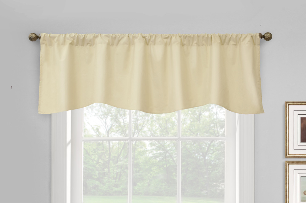 Prescott Insulated Pole Top Scalloped Valances, Thermal Within Prescott Insulated Tie Up Window Shade (View 14 of 45)