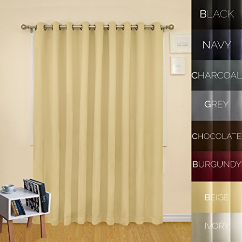 Prestige Home Fashion Extra Wide Width Thermal Insulated Throughout Antique Silver Grommet Top Thermal Insulated Blackout Curtain Panel Pairs (View 28 of 40)