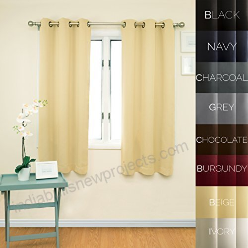 Prestige Home Fashion Thermal Insulated Blackout Curtain Pertaining To Moroccan Style Thermal Insulated Blackout Curtain Panel Pairs (View 48 of 50)