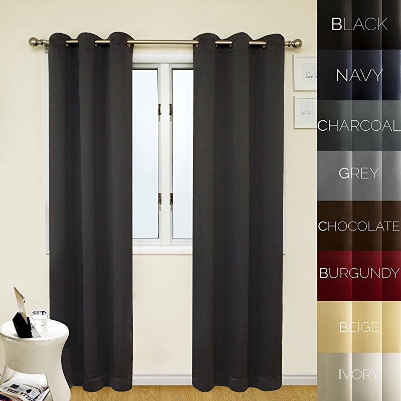 Prestige Home Fashion Thermal Insulated Blackout Curtain Regarding Antique Silver Grommet Top Thermal Insulated Blackout Curtain Panel Pairs (View 30 of 40)