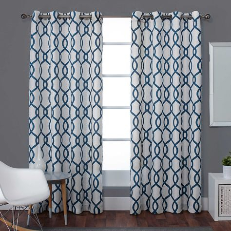 Primebeau Geometric Pattern Blackout Curtain Pair 2 Pack For Primebeau Geometric Pattern Blackout Curtain Pairs (View 32 of 38)