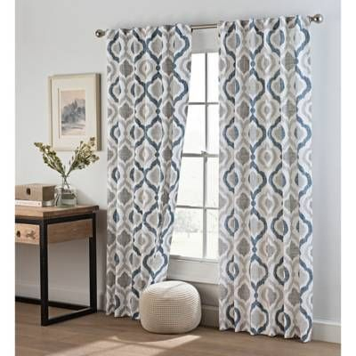 Primebeau Geometric Pattern Blackout Curtain Pair 2 Pack Inside Primebeau Geometric Pattern Blackout Curtain Pairs (#33 of 38)