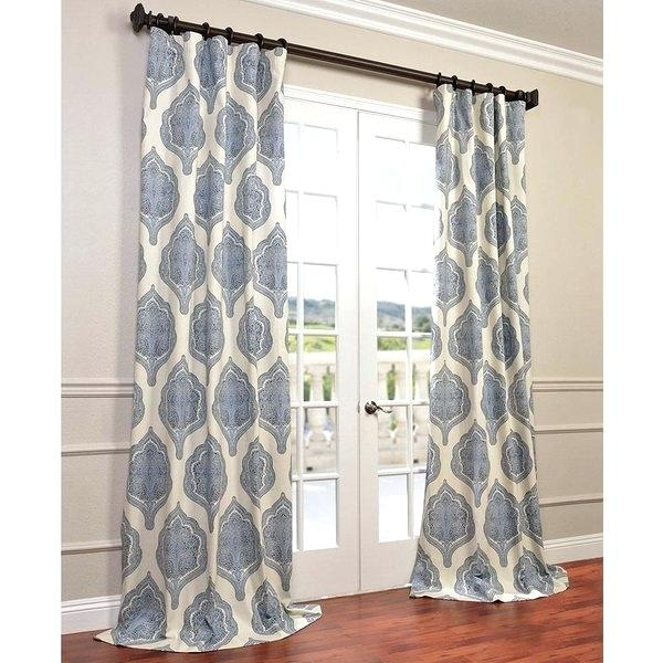 Printed Curtain Panel Sheer Custom Panels – Thewaitinggame Pertaining To Ikat Blue Printed Cotton Curtain Panels (#43 of 50)