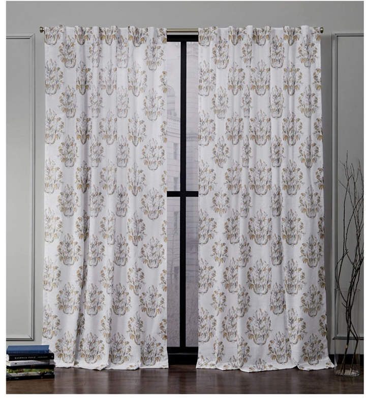 Printed Curtain Panel – Shopstyle For Caldwell Curtain Panel Pairs (View 12 of 27)