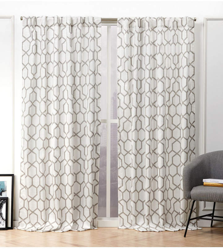 Printed Curtain Panel – Shopstyle Within Caldwell Curtain Panel Pairs (View 14 of 27)