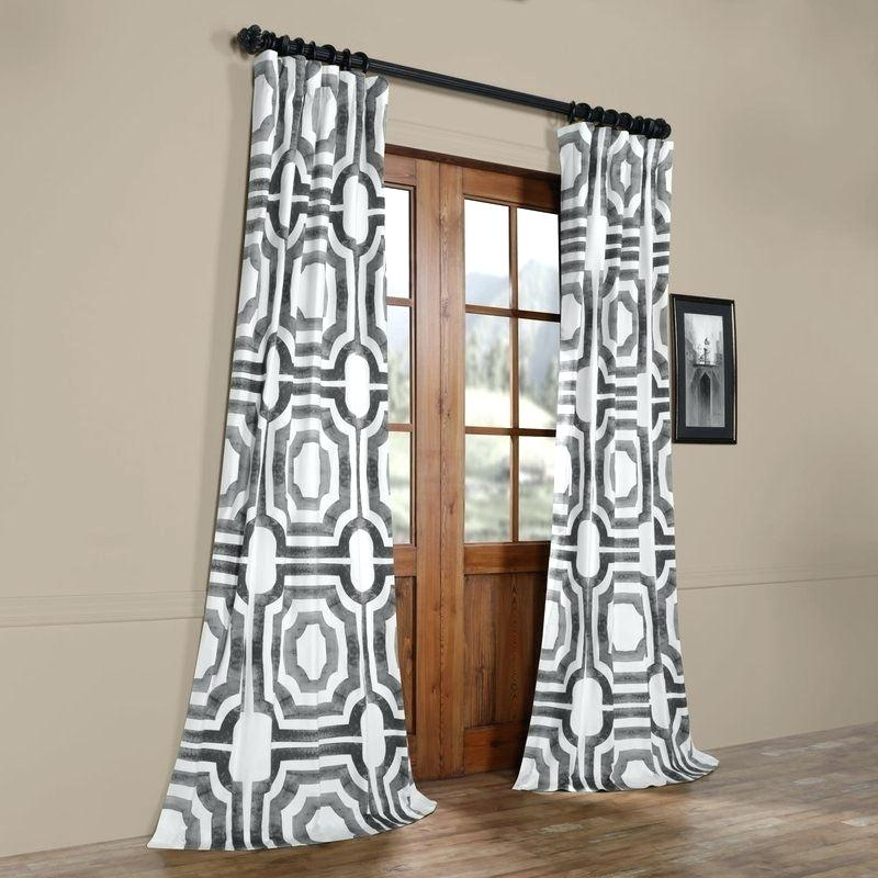 Printed Curtain Panels – Laticiamarconi (View 40 of 48)