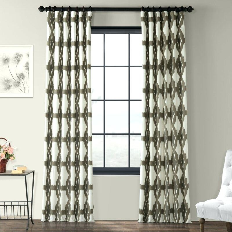 Printed Curtain Panels Product Detail Sheer Decorating With Regard To Ink Ivy Ankara Cotton Printed Single Curtain Panels (View 21 of 50)