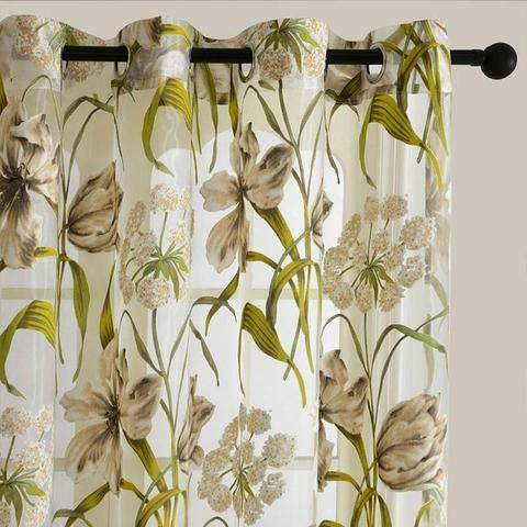 Printed Sheer Curtains – Mercadeo (View 34 of 46)
