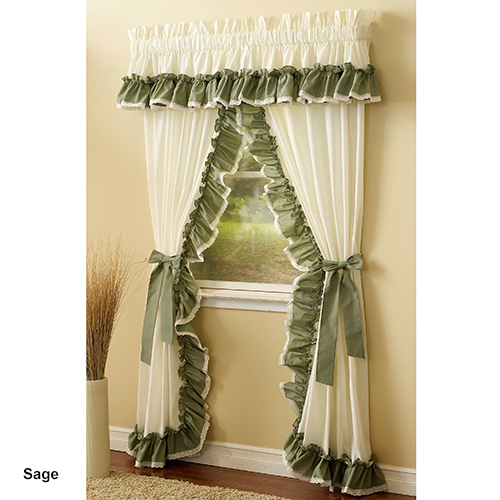 Priscilla Madelyn Ruffle Curtain Panel Pairs For Curtain Panel Pairs (View 19 of 26)