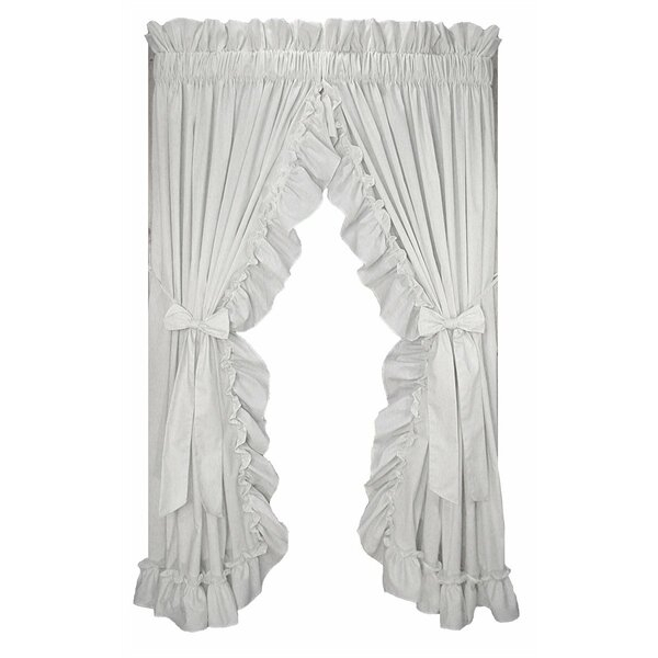 Priscilla Ruffle Curtains | Wayfair With Regard To Sheer Voile Waterfall Ruffled Tier Single Curtain Panels (#20 of 50)