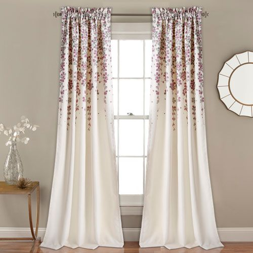 Product Image For Lush Décor Evelyn Medallion 84 Inch Room Inside Sunsmart Dahlia Paisley Printed Total Blackout Single Window Curtain Panels (#20 of 45)