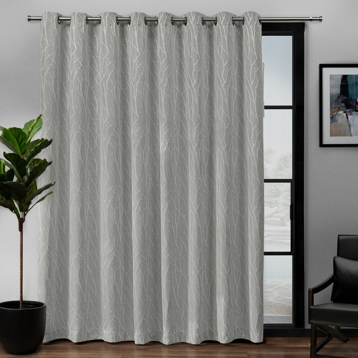 Prower Patio Woven Blackout Thermal Grommet Single Curtain Panel Regarding Embossed Thermal Weaved Blackout Grommet Drapery Curtains (View 33 of 42)