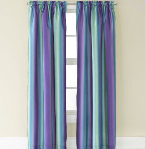 Purple And Teal Mix Curtains! In 2019 | Drapes Curtains Within Elrene Aurora Kids Room Darkening Layered Sheer Curtains (View 38 of 40)