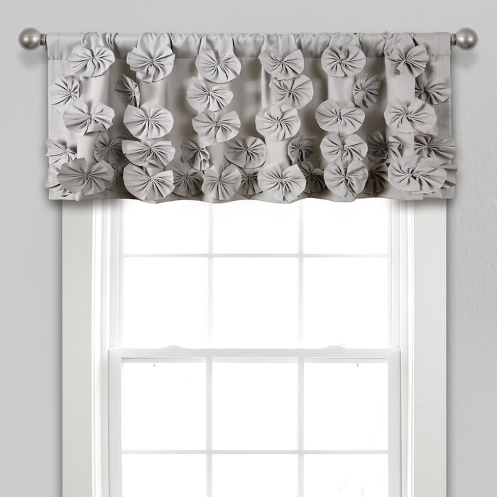 "Quincy 52"" Window Valance Intended For Ladonna Rod Pocket Solid Semi Sheer Window Curtain Panels (View 9 of 47)"