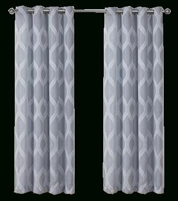 "Quinton Geometric Room Darkening Grommet Curtain Panels | Steel Blue, 96"",  Set Of 2 Within Geometric Linen Room Darkening Window Curtains (View 38 of 50)"