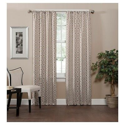 Radnor Trellis Thermaweave Blackout Curtaineclipse 37X In Eclipse Darrell Thermaweave Blackout Window Curtain Panels (#43 of 50)