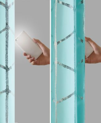 Inspiration about Raina Intelligent Design 50 X 63 Total Blackout Metallic Within Total Blackout Metallic Print Grommet Top Curtain Panels (#28 of 50)
