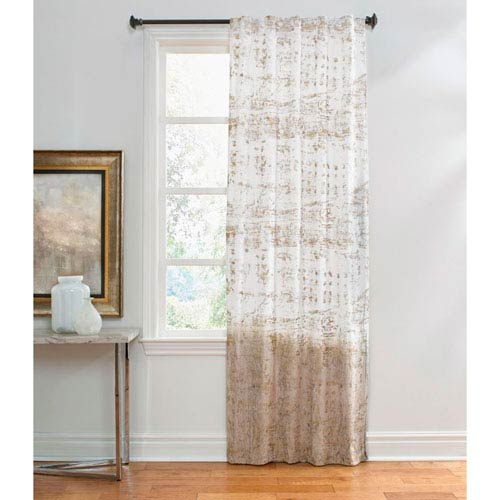 Raina Ivory And Gold 120 X 50 Inch Velvet Ombre Curtain Single Panel With Ombre Embroidery Curtain Panels (View 36 of 50)