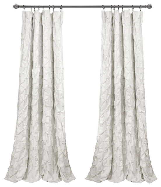 """Inspiration about Ravello Pintuck Wp White Single 52""""x84"""" In Velvet Dream Silver Curtain Panel Pairs (#11 of 49)"""