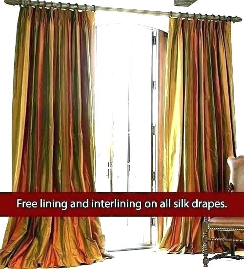 Raw Silk Curtains – Cooksscountry Pertaining To Raw Silk Thermal Insulated Grommet Top Curtain Panel Pairs (#32 of 46)