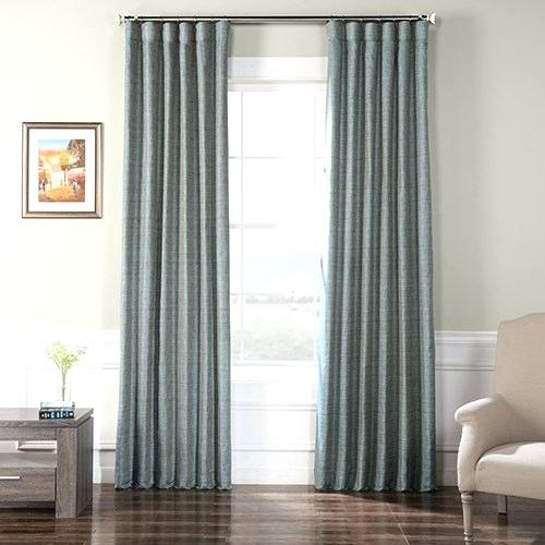 Raw Silk Curtains Within Raw Silk Thermal Insulated Grommet Top Curtain Panel Pairs (#31 of 46)