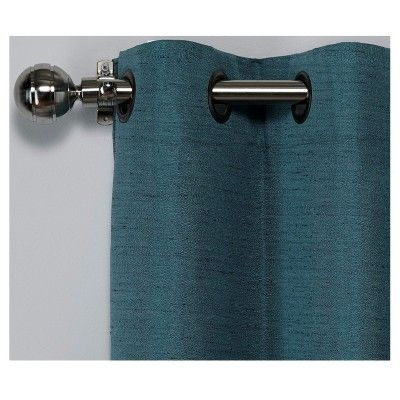Raw Silk Insulated Thermal Grommet Top Window Curtain Panel With Regard To Raw Silk Thermal Insulated Grommet Top Curtain Panel Pairs (#35 of 46)