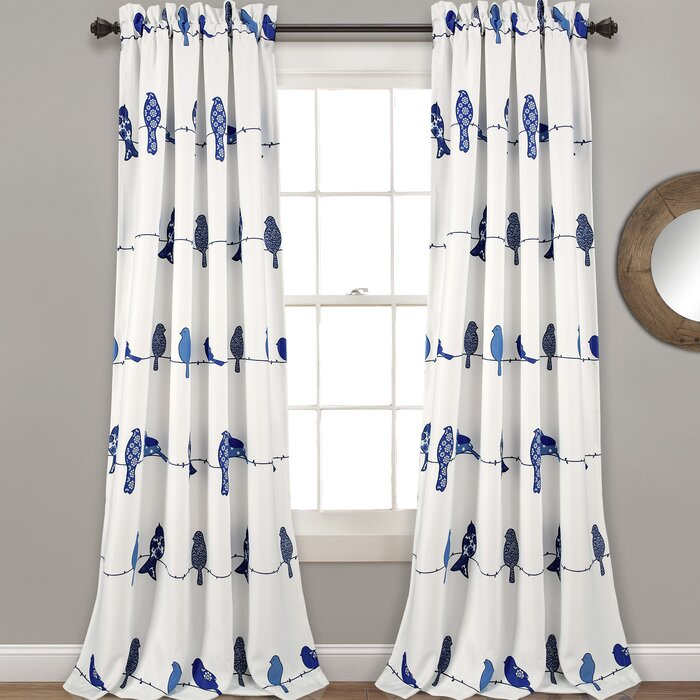 Recio Birds Room Darkening Thermal Rod Pocket Curtain Panels Pertaining To Rowley Birds Room Darkening Curtain Panel Pairs (View 11 of 49)