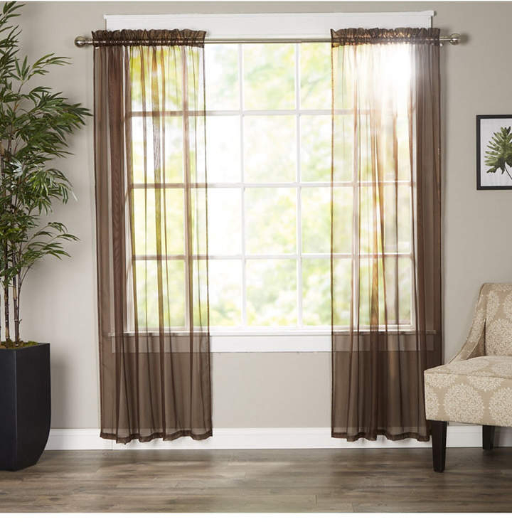 Inspiration about Red And Brown Window Panels – Shopstyle Regarding Cyrus Thermal Blackout Back Tab Curtain Panels (#19 of 39)