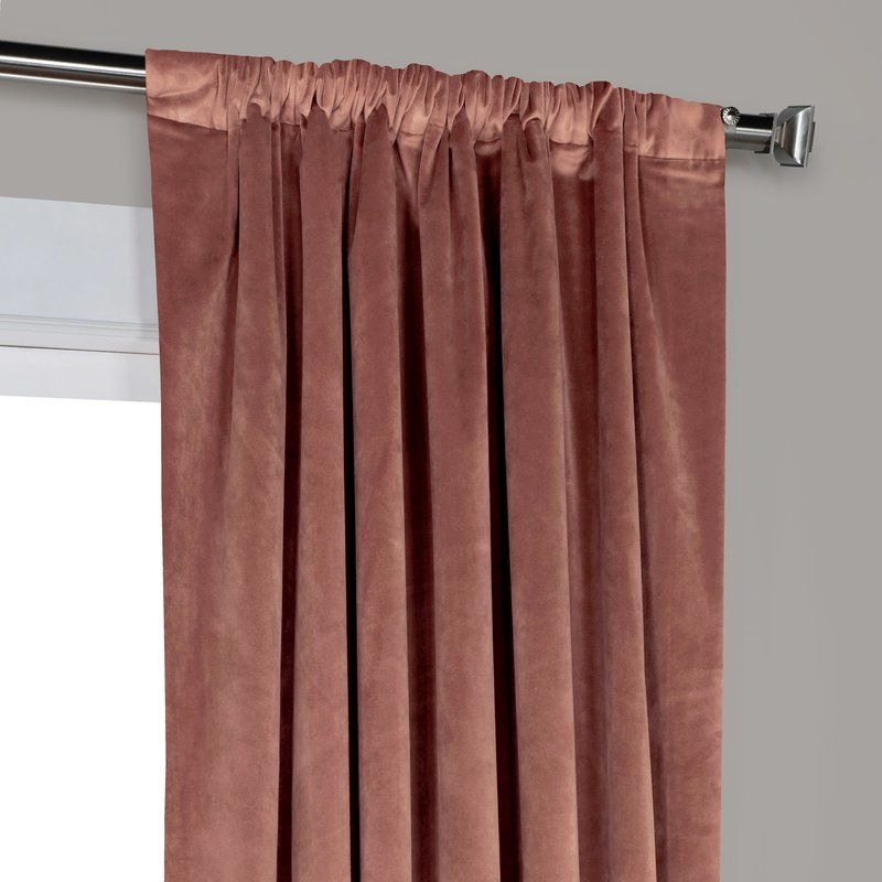 Red Barrel Studio Riverton Solid Heritage Plush Velvet Rod Throughout Heritage Plush Velvet Single Curtain Panels (View 36 of 50)
