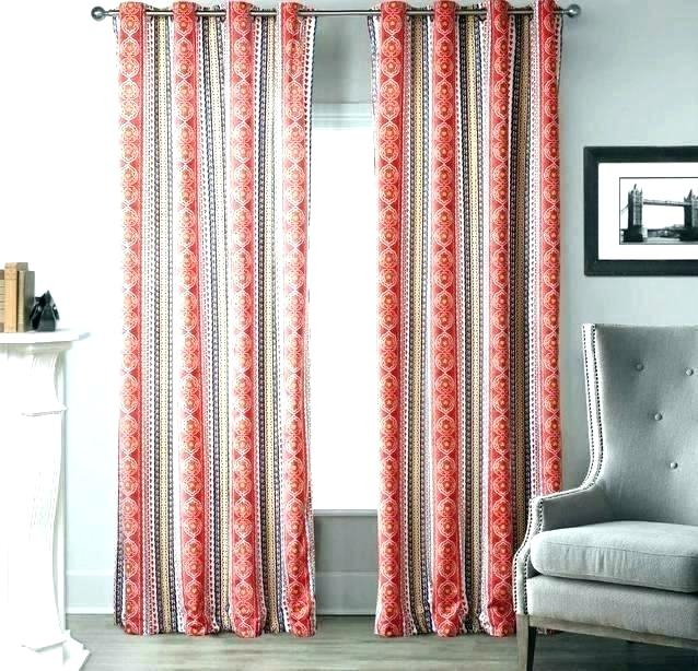Red Grommet Curtain – Ideacreations In Intersect Grommet Woven Print Window Curtain Panels (View 49 of 50)