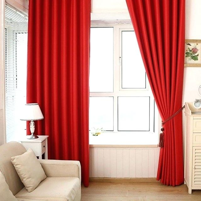 Inspiration about Red Grommet Curtain – Ideacreations In Intersect Grommet Woven Print Window Curtain Panels (#31 of 50)