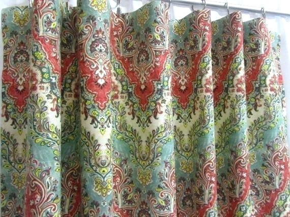 Red Grommet Curtains – Bowerystation With Intersect Grommet Woven Print Window Curtain Panels (View 27 of 50)