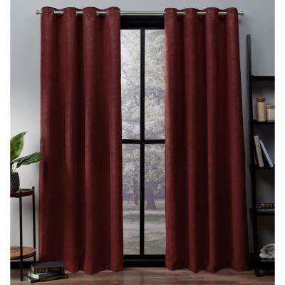 Red – Noise Cancelling – Curtains & Drapes – Window For Intersect Grommet Woven Print Window Curtain Panels (View 19 of 50)