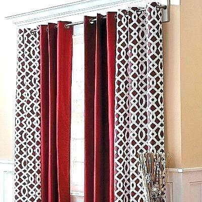 Red Print Curtains – Drmauriciomerchan With Intersect Grommet Woven Print Window Curtain Panels (View 42 of 50)