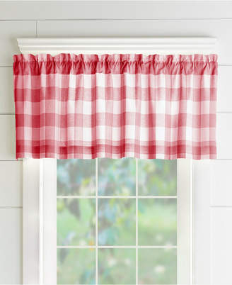 Inspiration about Red Window Valance – Shopstyle For Elrene Mia Jacquard Blackout Curtain Panels (#25 of 37)