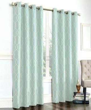 Inspiration about Regal Home Collections Restoration Green Embroidered Room Inside Grommet Room Darkening Curtain Panels (#47 of 50)