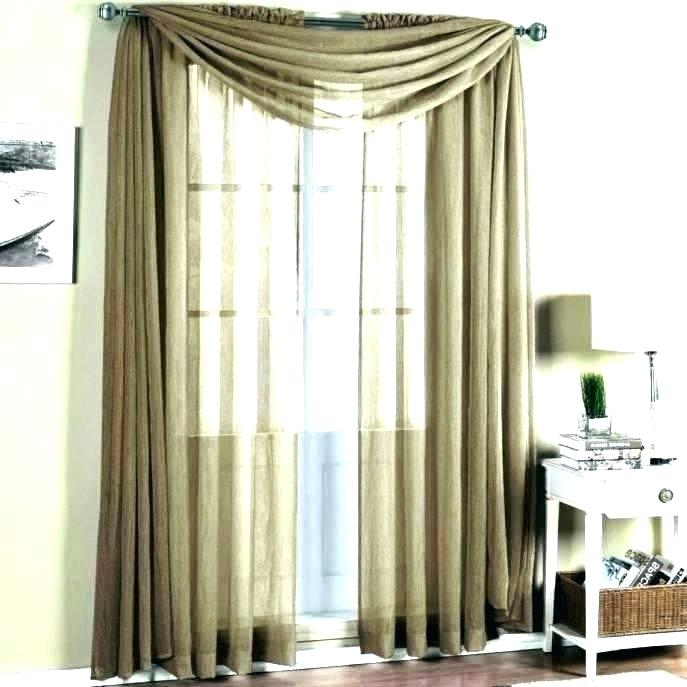Remarkable Gold Sheer Curtain Scarf Window Aligner Within Infinity Sheer Rod Pocket Curtain Panels (#31 of 50)