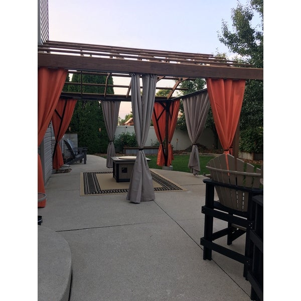 Inspiration about Reviews (887) Ati Home Indoor/outdoor Solid Cabana Grommet In Indoor/outdoor Solid Cabana Grommet Top Curtain Panel Pairs (#34 of 48)