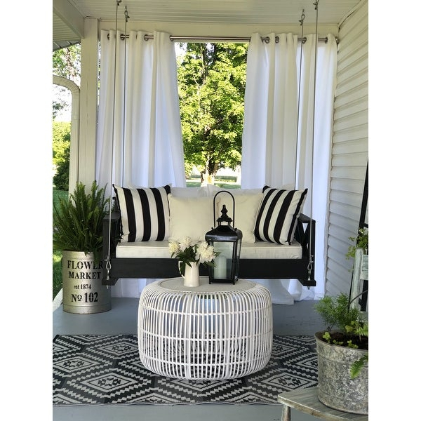 Inspiration about Reviews (887) Ati Home Indoor/outdoor Solid Cabana Grommet Intended For Indoor/outdoor Solid Cabana Grommet Top Curtain Panel Pairs (#15 of 48)